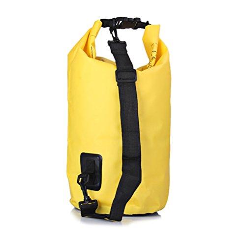 WINOMO Waterproof Dry Bag 20L Sack Backpack for Kayaking Beach Rafting Boating Hiking Camping and Fishing (Yellow)