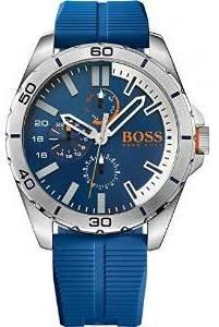 Hugo Boss Orange 1513291 48mm Stainless Steel Case Blue Rubber Mineral Men's Watch