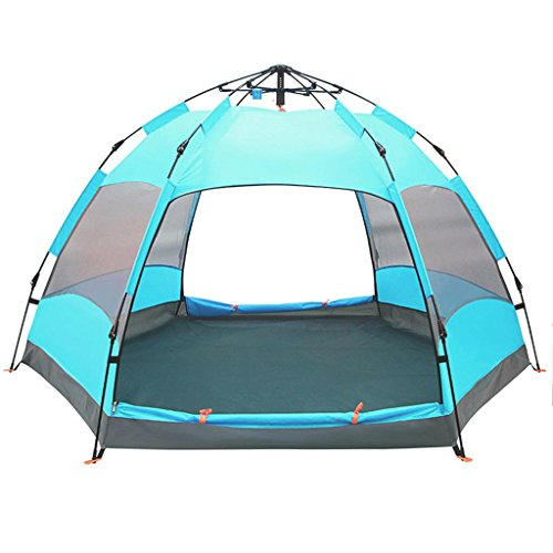 Aurora 3 Person Tent - ALUS- Automatic Large Outdoor Tent 6-9 Person Family Camping Tent Outdoor Sun (Color : # 3)