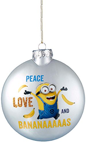 [Kurt Adler Despicable Me Disc Ornament with Decal, 80mm] (Despicable Me Glasses)