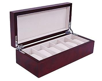 design élégant regarder remise spéciale de Boite 6 montres classic acajou