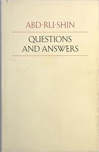 Questions And Answers Hardcover June 1 1972 By Abd Ru Shin