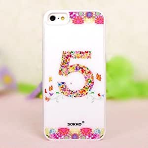 Mini - High Quality Acrylic Flowers NO.5 Pattern Hard Case for iPhone 5/5s