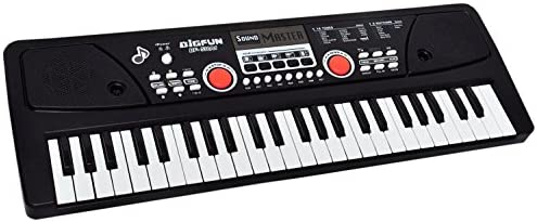 Domenico Electronic Digital Piano Keyboard 49 Keys- Multi-Function Portable Piano Keyboard Electronic Organ with Charging Function for Beginners- Chargeable