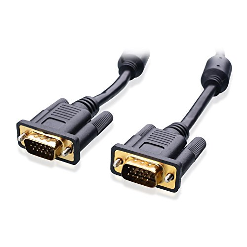 Aclgiants Double Shielded Coaxial Construction SVGA Cable Male to Male with Ferrites 6 Foot