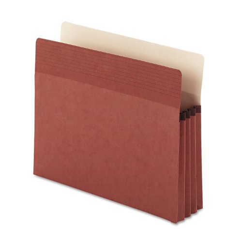 "Smead Easy Grip File Pocket, Straight-Cut Tab, 3-1/2"" Expansion, Legal Size, Redrope, 25 per Box (73210)"