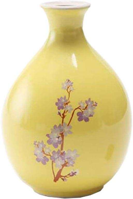 Prune Rouge vases de Table Mini Bouteille de vin en Vase /à Bourgeon en c/éramique Chinoise en c/éramique pour Le Bureau /à la Maison Bouteilles dornements de biblioth/èque