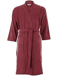 Women's Turkish Cotton Bathrobe Kimono Style Knee Length Terry Cloth Robe