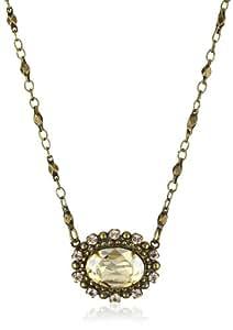 "Sorrelli ""Raw Sugar"" East-West Crystal Petite Goldtone Pendant Necklace"