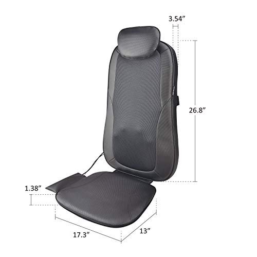 Shiatsu Back Cushion with or 3D Shiatsu Back Massage Chair Pad for Home Office