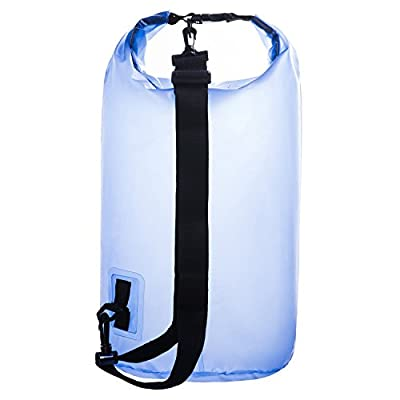 #1 rated 20L Quest Dry Bag Sack Backpack, Waterproof Guaranteed for Adventures - Floating, Boating, Kayaking, Hiking, Snowboarding, Camping, Rafting, Fishing ,With High Quality Roll Top Closure System,20l Super Capacity,ultimate Lightweight;never Worry Ab