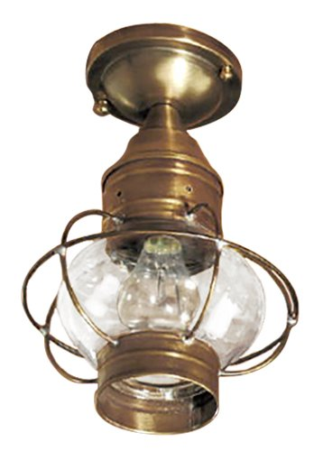 Brass Traditions 633-DAC Small Flush Mount Onion Lantern, Dark Antique Copper Finish Flush Mount Onion Lantern (Medium Onion Flush)