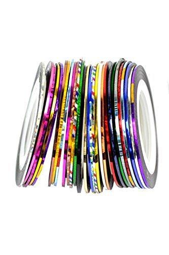 Yoliki Zierstreifen 30 Farben Striping Tape Nagel Streifen Nagelkunst Stripe Sticker Aufkleber Maniküre