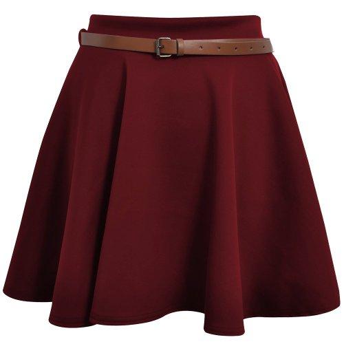 patineuse Dames Fte Fashion Top Mini jupe Femme Floque Haute Rouge Soire WPx8xgY