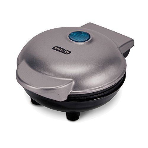 Dash Mini Maker: The Mini Waffle Maker Machine for Individual Waffles, Paninis, Hash browns, & other on the go Breakfast, Lunch, or Snacks - Silver