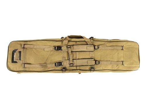Begadi Langwaffentasche / Futteral mit Doppelfach & Aussentaschen, extralang, 120 x 30cm, TAN