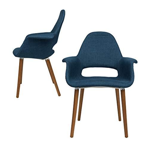 Laura Davidson Tribeca Organic Arm Chair Blue, 2