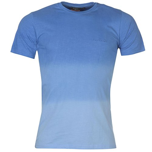 Pierre Cardin Mens 100% Cotton Short Sleeves Crew Neck Dip Dye T Shirt - Multicoloured - Small - 2X-Large Sizes Available (Large, (Dip Dye Crew Tee)
