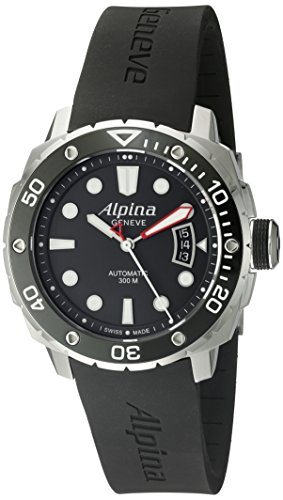 Alpina Men's AL-525LB4V36 Seastrong Diver 300 Analog Display Automatic Self Wind Black Watch