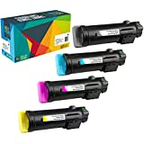 Do It Wiser Compatible High Yield Toner Xerox Phaser 6510 WorkCentre 6515 Printers (Black, Cyan, Magenta, Yellow, 4-Pack)