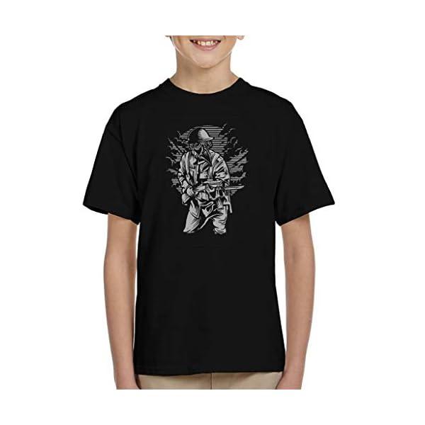 Steampunk Style Soldier Kid's T-Shirt 3