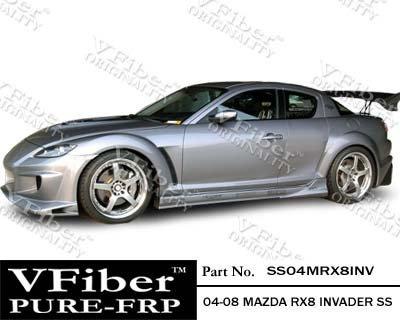 2004-2008 Mazda RX8 4dr Body Kit Invader Side (Vfiber Side Skirts)