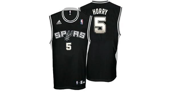905a5fdb Free to a horrible person Amazon.com Robert Horry Jersey adidas Black  Replica 5 San Antonio Spurs Jersey - Medium ...