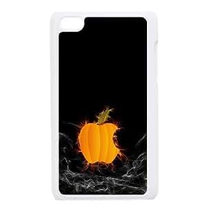 Pumpkin Apple Logo Computer3 iPod Touch 4 Case White Exquisite designs Phone Case TF7299H2