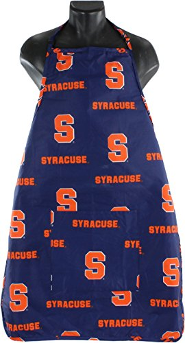 College Covers NCAA Syracuse Mens Syracuse Orangesyracuse Tailgating or Grilling Apron with 9'' Pocket, Fully Adjustable, Orange, One Size by College Covers