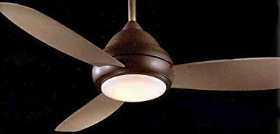 """Minka-Aire F577-BNW, Concept I Wet Nickel Wet 52"""" Outdoor Ceiling Fan with Light & Control"""