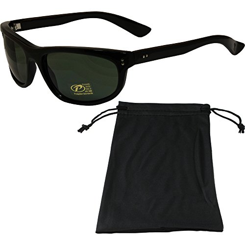 Dirty Harry Sunglasses Black Frame G-15 Grey/Green Lens with - Sunglasses Dirty