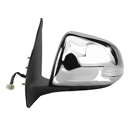 Fit System 70152T Toyota Tacoma Driver Side Black Power Replacement Mirror with Chrome -