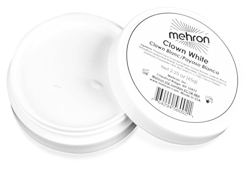 Mehron Makeup - Clown White Face Paint, 2.25 oz - Makeup Tube Pro Red
