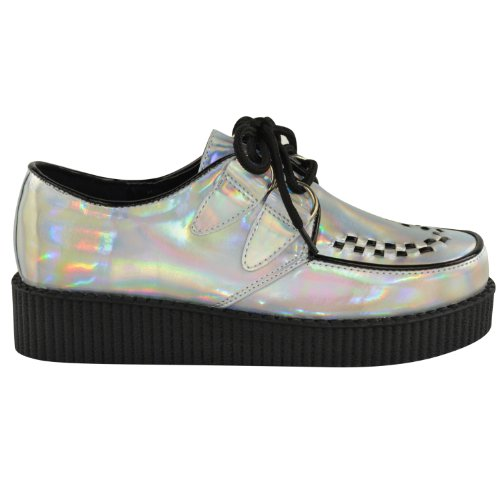 Fille Baskets Thirsty Hologramme Argent Fashion Mode Pour dHO5xxIq