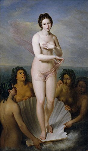Polyster Canvas ,the Cheap But High Quality Art Decorative Art Decorative Prints On Canvas Of Oil Painting 'Esquivel Y Suarez De Urbina Antonio Maria Nacimiento De Venus 1842 ', 16 X 27 Inch / 41 X 70 Cm Is Best For Study Gallery Art And Home Decoration And Gifts