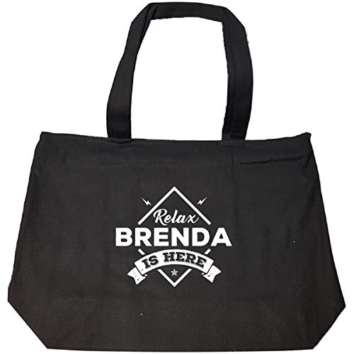 Relax Brenda Is Here Cool Gift - Tote Bag With Zip ()