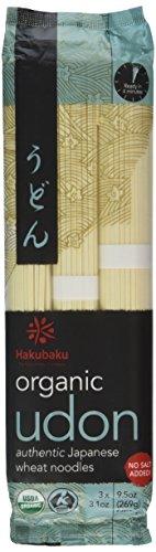 (Hakubaku Organic Udon, Authentic Japanese Wheat Noodles, No Added Salt, 9.5 oz Boxes, 2 pk)
