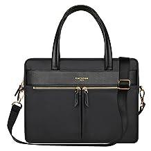 YiYiNoe Professional Macboook Handbag Shoulder Bag for Pro 15 Laptop Business Briefcase Messenger Bag for Women Black
