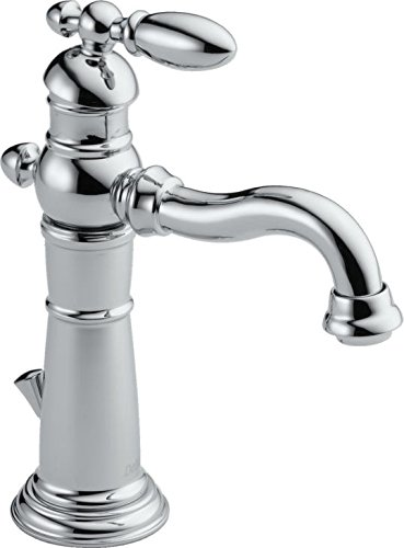 (Delta Faucet Victorian Single-Handle Bathroom Faucet with Metal Drain Assembly, Chrome)