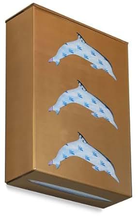 "TrippNT 52237 Ultimate Dolphin Triple Gold Metallic Dual Dispensing Glove Holder , 10"" Width x 5"" Height x 4"" Depth"