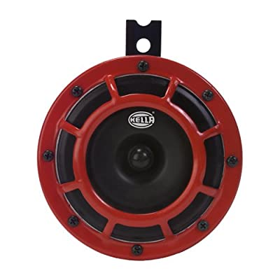 HELLA H31631021 Supertone 12V High Tone Horn with Red Protective Grill, Single Horn: Automotive