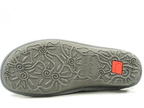 Emden Casa Sintético Rohde Grau Mujer 2262 Zapatillas De UWaq7