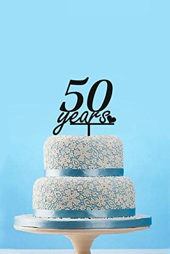 Amazon.com: 50 años aniversario decoración para tarta para ...