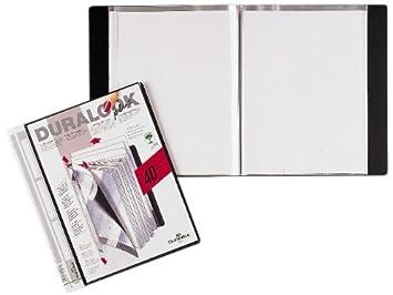 Durable Duralook Plus - Archivador con 10 fundas plásticas transparentes, color negro: Amazon.es: Oficina y papelería