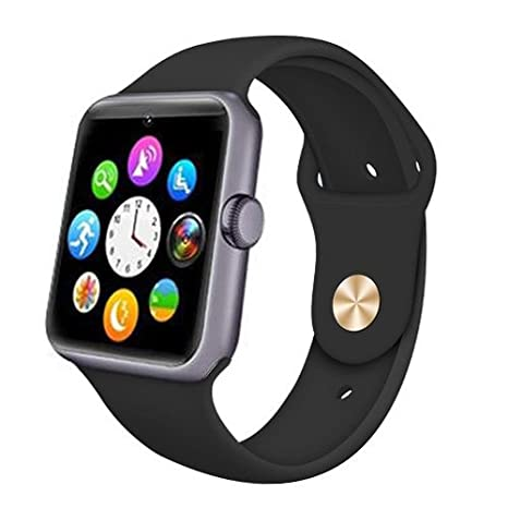 Smart Watch KB08 Reloj Inteligente Bluetooth Pantalla Táctil Android y iOS Compatible para Iphone Samsung Smartphone Android iOS - Negro, en inglés.