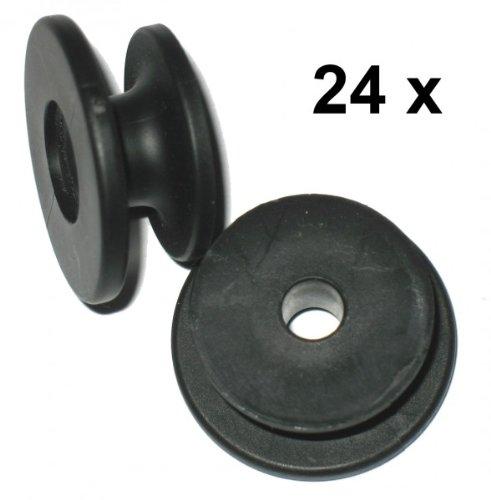 FKAnhä ngerteile 24 x Rundknopf fü r 6 + 8 mm Seil Durchmesser 24 bis 29 mm FKAnhängerteile