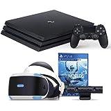 """【プライムデー特別価格 PS4 Pro + VRセット】PlayStation 4 Proジェット・ブラック 2TB + PlayStation VR""""PlayStation VR WORLDS""""同梱版 セット"""