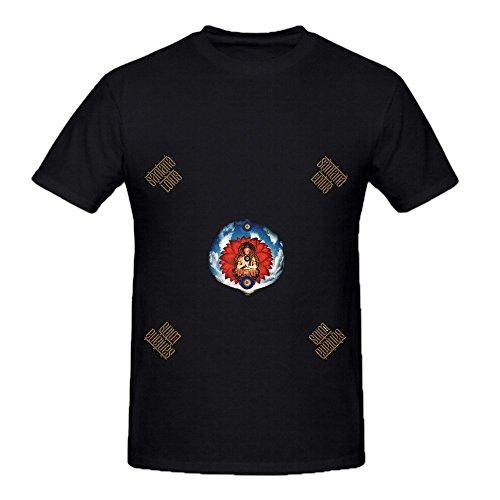 Santana Lotus 80s Men O Neck Customized Shirts Black