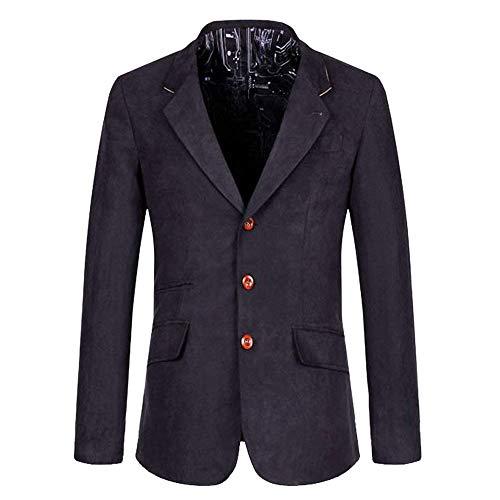 Il Libero Per Giacca Tempo Da Targogo Autunno Bavero Dunkelblau Blazer Slim Uomo Vintage Business Collare Fit Button 1AxOxZqgw