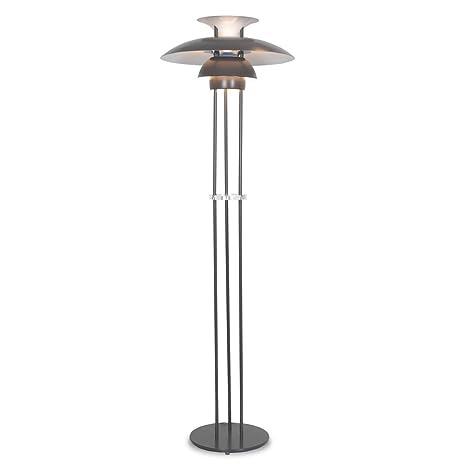 Grey Designer Poul Henningsen Ph 5 Style Modern 3 Shade Floor Lamp